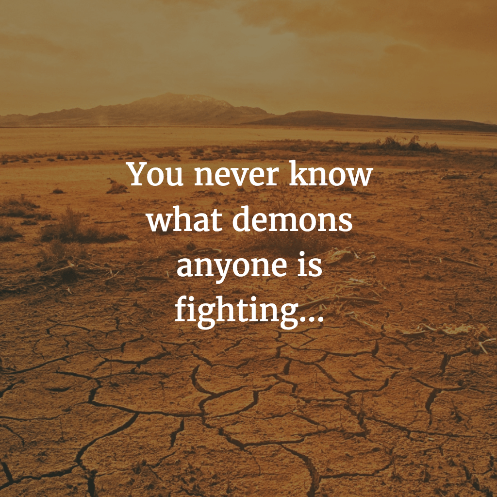 You never know…